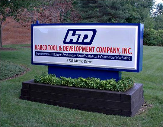 The HTD sign outside of our factory.
